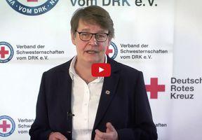 Gabriele Müller-Stutzer in einer Videobotschaft