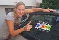 Jubiläumssticker fürs Auto