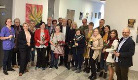 Ausstellung im Universitätsklinikum am Standort Marburg.