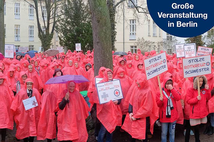 Unsere Rotkreuzschwestern lassen uns nicht im Regen stehen!