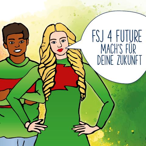 Grafik - FSJ for Future - Mach's für deine Zukunft